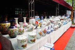 Jingdezhen porcelain exhibition sales Royalty Free Stock Photo