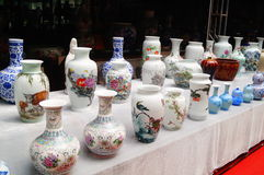 Jingdezhen porcelain exhibition sales. In Shenzhen cultural industry fair, china Royalty Free Stock Photo