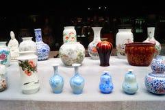 Jingdezhen porcelain exhibition sales Stock Images