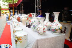 Jingdezhen porcelain exhibition sales Royalty Free Stock Photography