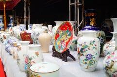 Jingdezhen porcelain exhibition sales Stock Photos