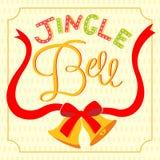 Jinger-Glocken-Beschriftungskarte Lizenzfreies Stockbild