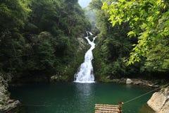 Jinggang fairy pond waterfall Royalty Free Stock Photos