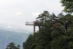 Viewing platform-Azalea Mountain-Jinggang Mountains. Jinggangshan is located in Ji`an City, Jiangxi Province, is located in the eastern border, Nanling North Stock Images