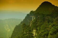 Viewing platform-Azalea Mountain-Jinggang Mountains. Jinggangshan is located in Ji`an City, Jiangxi Province, is located in the eastern border, Nanling North Royalty Free Stock Photos