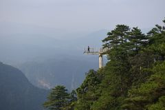 Viewing platform-Azalea Mountain-Jinggang Mountains. Jinggangshan is located in Ji`an City, Jiangxi Province, is located in the eastern border, Nanling North Royalty Free Stock Images