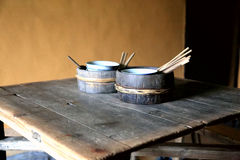 Jingganshan山的老房子 库存照片