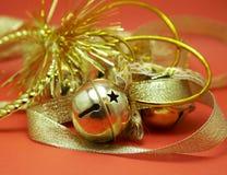 jingle колоколов золотистый стоковое изображение