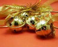 jingle колоколов золотистый стоковые фотографии rf