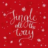 Jingle All The Way Canción de la Navidad inspirada Foto de archivo