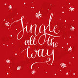 Jingle All The Way Inspirational Kerstmislied Stock Foto