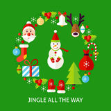 Jingle All The Way Postcard Photo stock