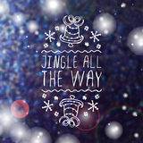 Jingle all the way - typographic element Royalty Free Stock Photos