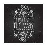 Jingle all the way - typographic element Royalty Free Stock Photography
