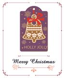 Jingle bell in christmas royalty free illustration