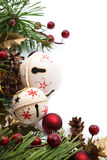 Jingle bell Christmas border Stock Images