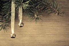 Jingle bell christmas decoration Stock Photos