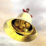 Jingle bell. Digital visualization of  a jingle bell Stock Photos