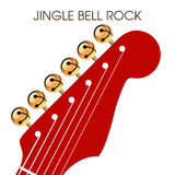 Jingle bell rock musical holiday artwork Royalty Free Stock Image