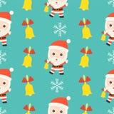 Jingle bell santa, christmas seamless pattern theme, for use as vector illustration