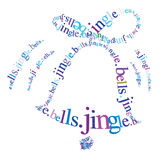 Jingle bells. Typographic christmas bell illustration with jingle bells text Stock Image