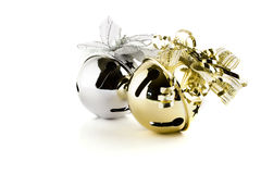 Jingle bells. Isolated on white Royalty Free Stock Photography