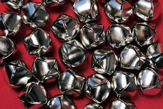 Jingle bells. On a red background Royalty Free Stock Images