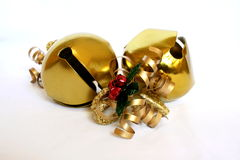 Jingle Bells. Gold Christmas Jingle Bells royalty free stock image