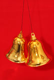 Jingle Bells. Pair of Christmas decorations Royalty Free Stock Image