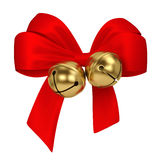 Jingle bells with bow Stock Photography