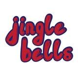 Jingle Bells Calligrafia scritta a mano Immagine Stock
