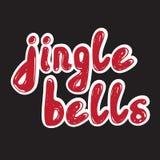 Jingle Bells Calligrafia scritta a mano Immagine Stock Libera da Diritti