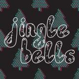 Jingle Bells Calligrafia scritta a mano Fotografia Stock