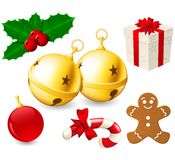 Jingle Bells and Christmas decoration Royalty Free Stock Photos
