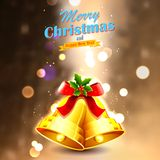 Jingle bells for Christmas decoration Stock Images