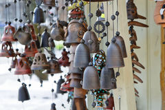 Jingle bells on Christmas market Stock Photography