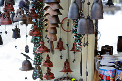 Jingle bells on Christmas market Stock Photos