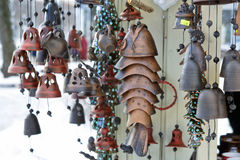 Jingle bells on Christmas market Stock Images