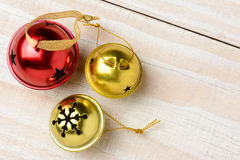 Jingle Bells Closeup Horizontal Stock Foto's