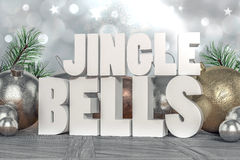 Jingle Bells 3D text Royaltyfria Foton