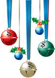 Jingle bells with dollar signs stock illustration