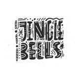 Jingle Bells Greeting Card Design Fotografie Stock