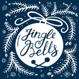 Jingle bells lettering background Stock Photos