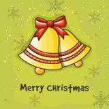 Jingle Bells lucido per la celebrazione di Buon Natale Immagini Stock