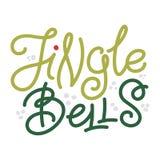 Jingle Bells - Natale che accolgono e stelle di scarabocchio Fotografie Stock Libere da Diritti