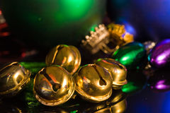Jingle Bells and ornaments royalty free stock image