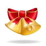 Jingle bells with red bow. Vector illustration Royalty Free Stock Photo
