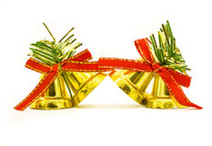 Jingle bells with red bow Stock Images