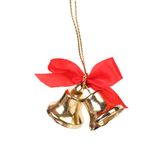 Jingle bells with red ribbon. Stock Photo