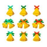 Jingle Bells Vector Vector Illustrations-Satz Lizenzfreie Stockfotografie